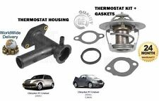 FOR CHRYSLER PT CRUISER 2.0 2.4 2000-> NEW THERMOSTAT + HOUSING + GASKETS KIT