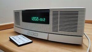 Bose Wave CD/Radio AWRC3P & Pedestal AWACPT - Platinum White - Rare Find - VGC