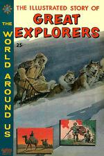 World Around Us #23 Vg Great Explorers Crandall Evans, Classics Illustrated 1960