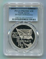 South Africa 2014 Silver R2 20 Years Democracy PCGS Graded PR69DCAM Proof Coin