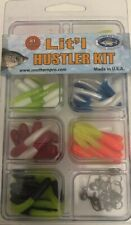 Lit'l Hustler Kit 81 piece Crappie Jig Kit Usa Made Skirts and Jigheads