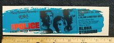 The Police 1984 Unused Ticket Sting Stevie Ray Vaughan 98 Rock Honolulu Hi Aloha