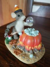 "Charming Tails Halloween Figurine ""Bubbly Brew"" #85/102 c.2001 New in Box"
