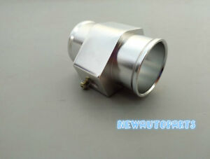 30mm Water Temp Temperature Joint Pipe Sensor Gauge Radiator Hose Adapter Silver
