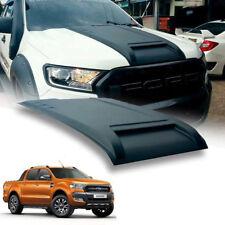 Matte Matt Black Bonnet Hood Scoop ABS Cover Ford Ranger Mk2 Px2 XLT 15 16 17