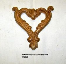 """WOOD EMBOSSED APPLIQUE 4 1/8""""H X 3 7/8""""W         HQ328"""