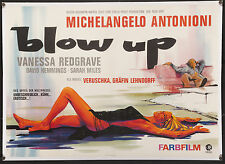 "BLOW UP 1967 33""x46"" poster on linen Michelangelo Antonioni fashion photography"