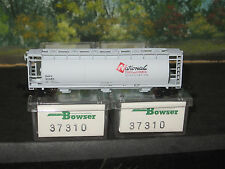 BOWSER N SCALE  #37310 3 PACK ACF CYLINDRICAL HOPPER NATIONAL CHEMICAL CO.