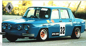 Renault 8 GORDINI SPEC SHEET / Brochure / Prospek: 1967,1968