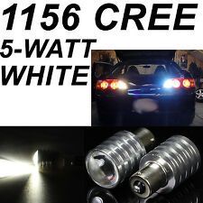 2x 5W Cree Q5 1156 BA15S LED Pure White Car Signal Reverse Wedge Light Lamp Bulb