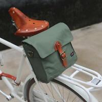 Tourbon Canvas Cycling Handlebar Bag Bike Rear Pack Pouch Bicycle Frame Bag