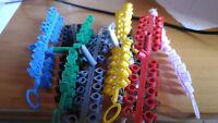 Anillas de plastico para periquitos tiras de 24 anillas colores 4 mm