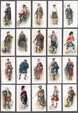 1907 John Player & Sons Highlands Clans Tobacco Cards Complete Set of 25