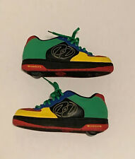 Heelys Multi Color Skate Sneakers Style 7242 Size 6 - Red Blue Yellow Green