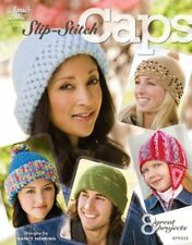 Slip Stitch Caps Hats Crochet Pattern Book 8 Designs Including Santa Hat