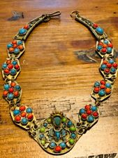 VERY OLD NECKLACE WITH MULTIPLE REAL GEMSTONES