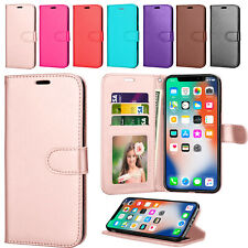 Case for iPhone 6 7 8 5S PLUS XR XS MAX Cover Magnetic Leather Folio Flip Wallet