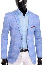 Light Blue Mens Blazer Slim Fit Last Few UK 48 50 EU 56 58 Red Finis Cotton 46