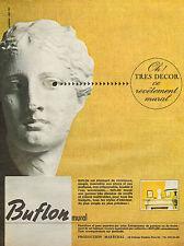 Publicité 1965  BUFLON revetement mural  souple !