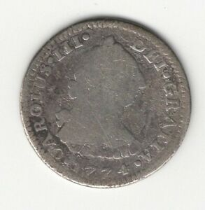 1774  MEXICO  CHARLES III  SILVER  REAL