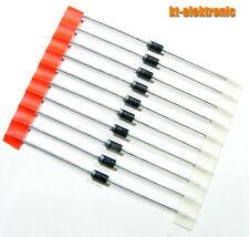 10 Stück 1N5819 40V 1A Schottky Diode DO15 Solar Sperr-diode Bypass-Diode