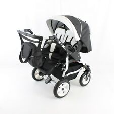 2 in 1 TWINS DUO STARS ADBOR Double TWINS Pram/pushchair ;certified to BS5852