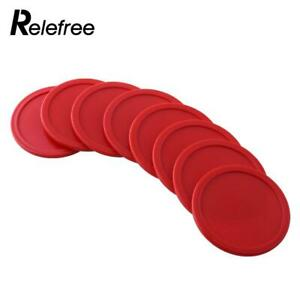 8Pcs 63mm Red ABS Air Hockey Game Entertainment Ice Pucks Goalies Puck