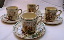 Vintage set of 4 French Opera Demitasse Cups and Saucers Made in England for PV