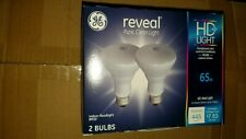GE 11684 Reveal Indoor Flood light 65w Lot of 2 Bulbs BR30