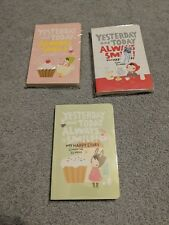Lot Of 3 Cute Diary Notebook Red Hat Girl Agenda Weekly Planner Record Notebook