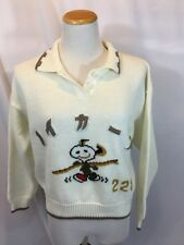 VINTAGE SNOOPY Asian Women's Ski Team Or Cheer Sweater✨SUPER COOL✨Intarsia Knit