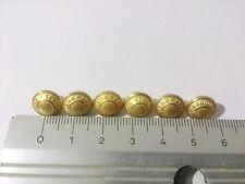 Lot de 6 boutons de gilet / Spencer Légion Étrangère  - 0,9 cm de diamètre