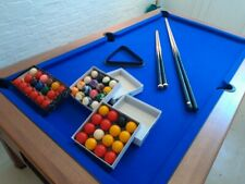 6ft x 3ft quality blue baize Pool Table -