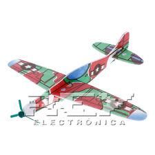 Avión Planeador Bell P-39 Airacobra Juguete Corcho Blanco Mod. 4 Colección j45