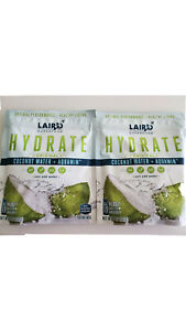 (2 Pack)Laird Superfood 8 oz HYDRATE ORIGINAL Coconut Water