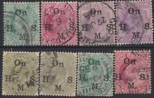 f197) India. 1902/09. Used.  Small group of Officials