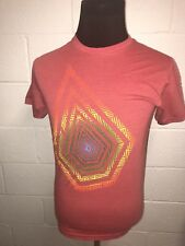 Volcom Stone Graphic T Shirt Mens Small Red w Multicolored Big Logo S/S