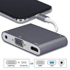 """For Apple 8Pin Lightning to HDMI VGA Digital AV Adapter iPod 5th 6th iPad 12.9"""""""