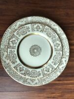 Antique old vintage set of 2  plates Victorian Johnson Bros.with gilding