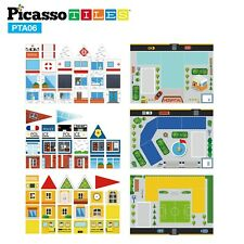PicassoTiles 80pc School, Hospital, and Police Station Theme Expansion Set PTA06