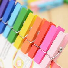 3.5*2cm Mini Multicolor Wooden Clothe Photo Paper Peg Clothespin Craft Clips