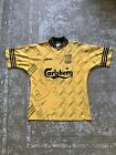 "Original Adidas Liverpool FC Football Third Shirt 1994/96 40/42"" Medium Yellow"