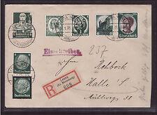 Deutsches Reich, alle 6 Pfg. Marken 1934, portogerecht R-Brief, dekorati (21350)