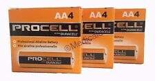 NEW DURACELL PROCELL AA 1.5V ALKALINE BATTERIES 12 (3 PACKS OF 4) EXP 5+ YRS
