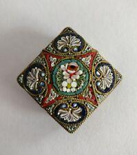 Broche Vintage mosaico de micro