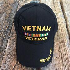 Black Vietnam War Veteran Army Military Vet US Baseball Ball Cap Hat Caps Hats-S