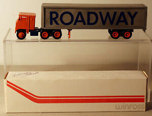 DTE OLD WINROSS ROADWAY FREIGHT TRACTOR TRAILER TRUCK W/METAL DOLLY NIOB