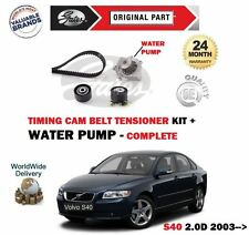 FOR VOLVO S40 2.0D 136BHP 2003- NEW WATER PUMP + TIMING CAM BELT TENSIONER KIT
