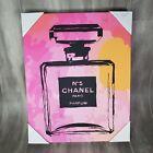 Chanel No.5 Pop Art 16x20x1.5 Canvas Wall Art Picture Modern Art Pink & Yellow