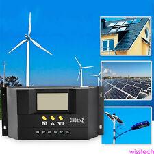 60A 12V 24V PWM Panel Solar regulador carga LCD pantalla del controlador